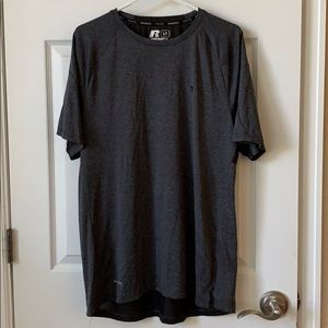 Men's Large gray and black dry fit t-shirt Russell